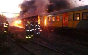 metrorail burning trains